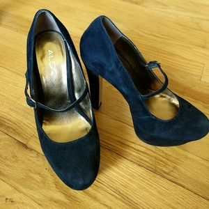 Super sexy Aldo suede stiletto Mary Jane heels